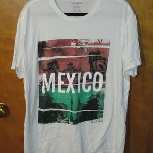 Guess Mexico Graphic White Shirt XL